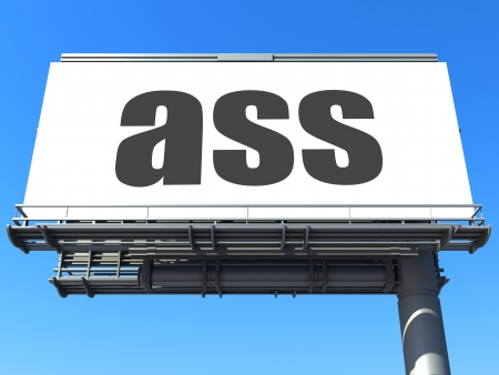 big ass: word on billboard