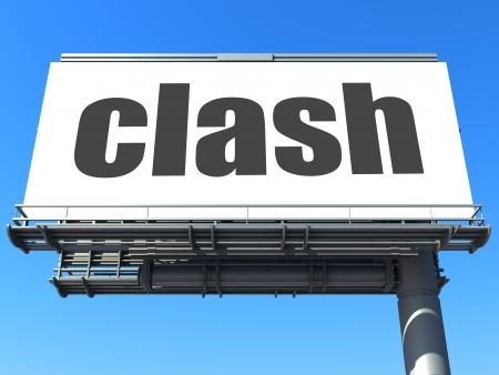 clash: word on billboard