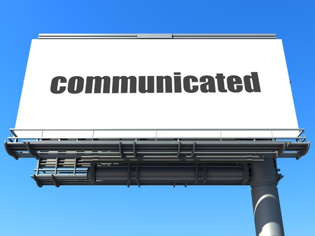 communicated: word on billboard