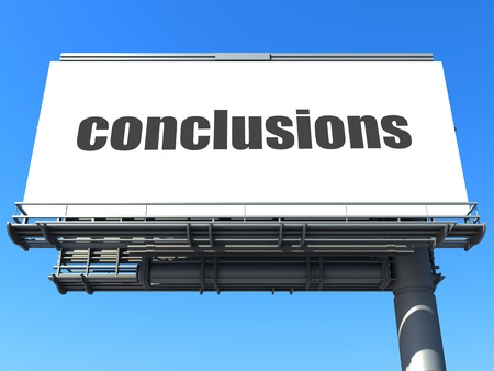 conclusions: word on billboard