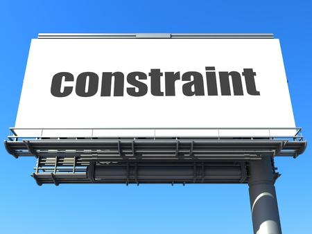 constraint: word on billboard