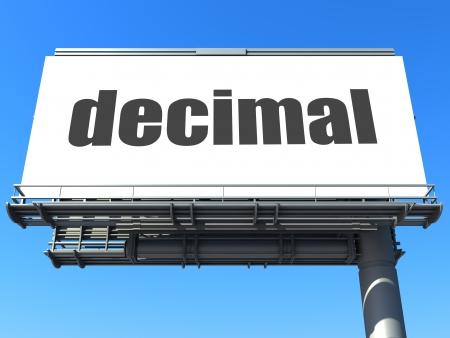 decimal: word on billboard