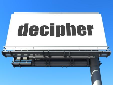 decipher: word on billboard