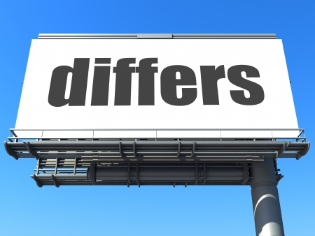 differs: word on billboard