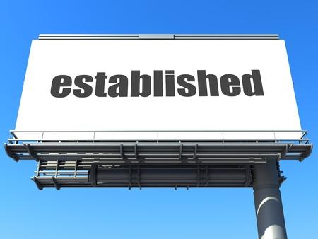 established: word on billboard