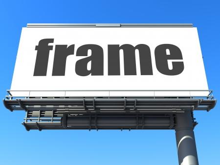 word on billboard Stock Photo - 19181656