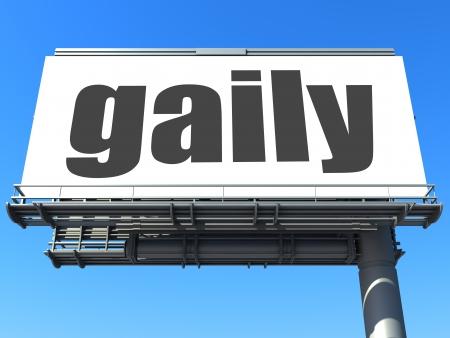 gaily: word on billboard