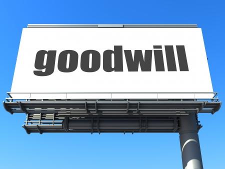goodwill: word on billboard