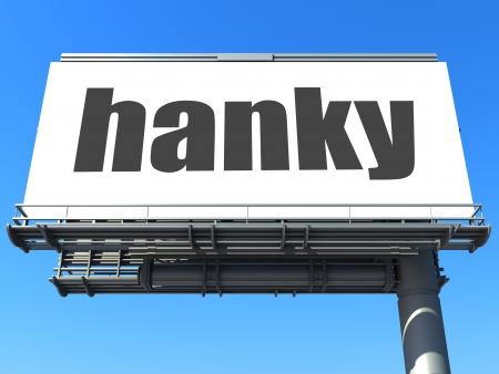 word on billboard Stock Photo - 19190541