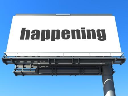 happening: word on billboard