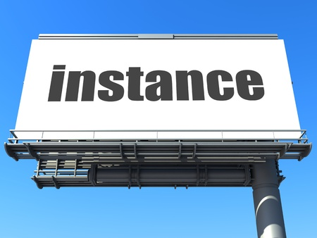 instance: word on billboard