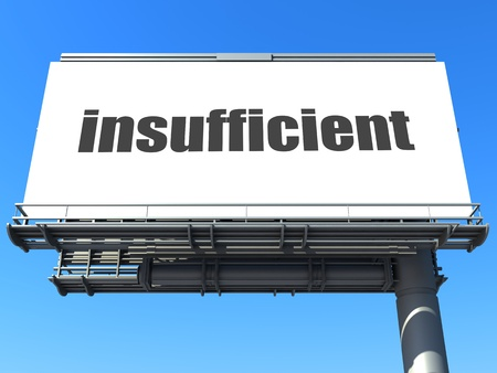 insufficient: word on billboard