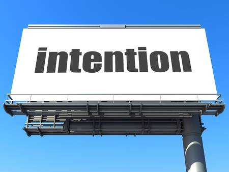 intention: word on billboard