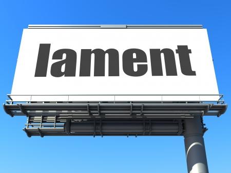 lament: word on billboard