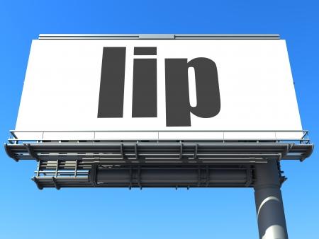 word on billboard Stock Photo - 19207658