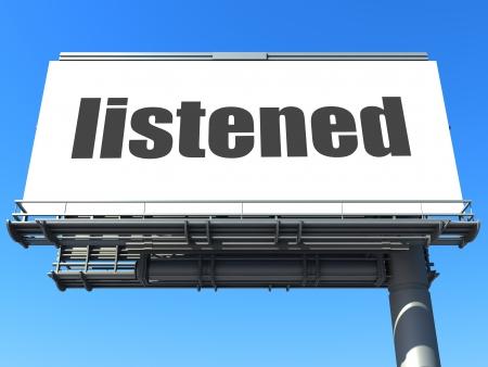 listened: word on billboard