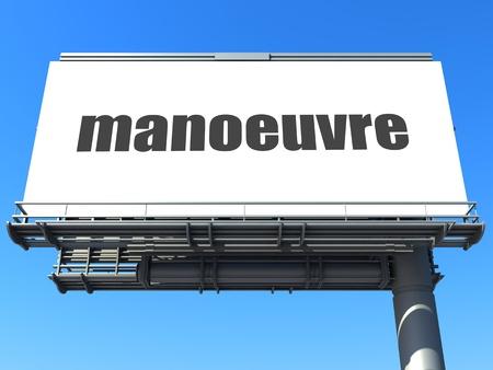 manoeuvre: word on billboard
