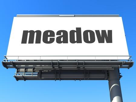 word on billboard Stock Photo - 19212369