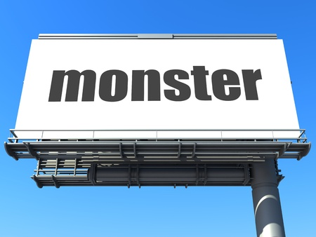 word on billboard Stock Photo - 19212368
