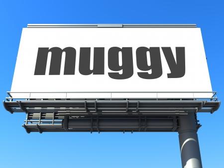 muggy: word on billboard