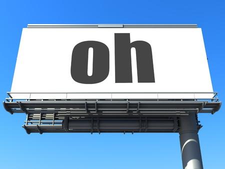word on billboard Stock Photo - 19207654