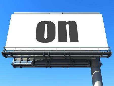 word on billboard Stock Photo - 19207652