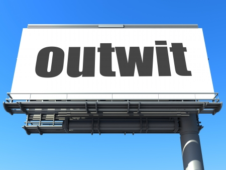 outwit: word on billboard