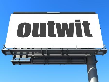 outwit: word on billboard