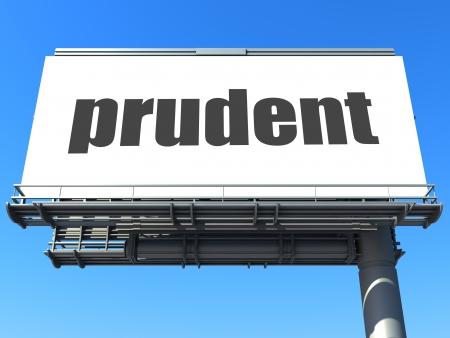 prudent: word on billboard