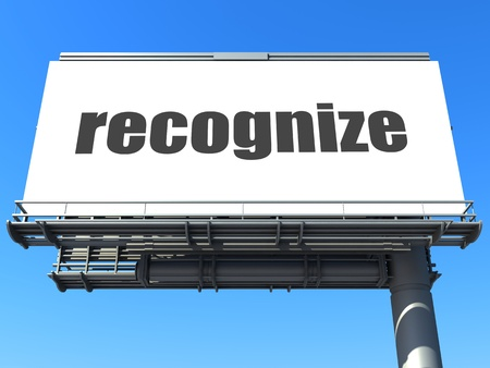 recognize: word on billboard