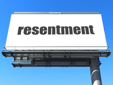 resentment: word on billboard