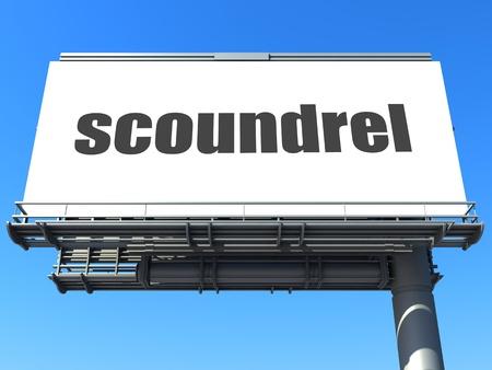 scoundrel: parola sul cartellone Archivio Fotografico
