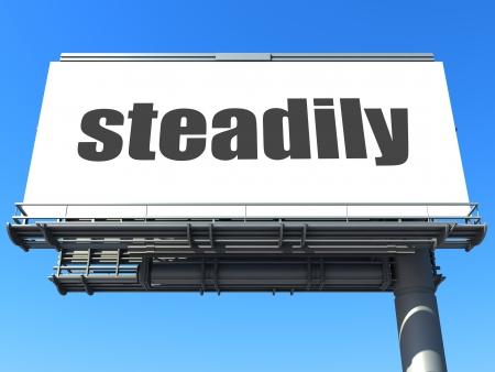 steadily: word on billboard