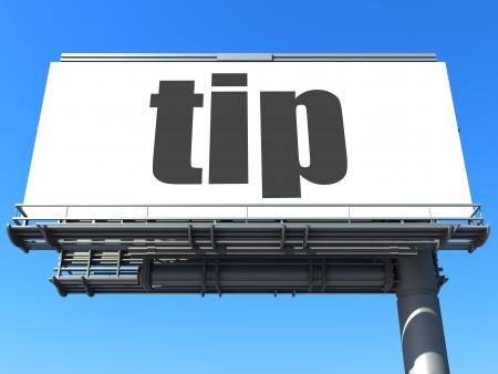 word on billboard Stock Photo - 19207665