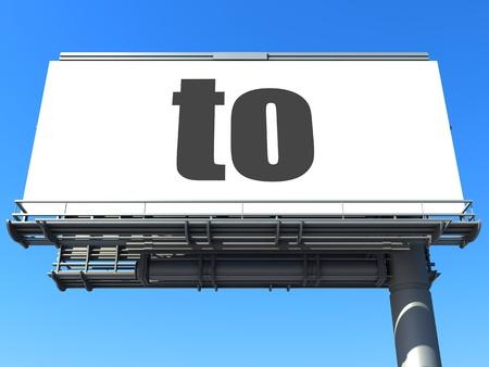 word on billboard Stock Photo - 19207638