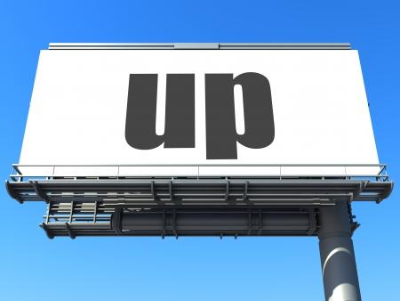 word on billboard Stock Photo - 19207651
