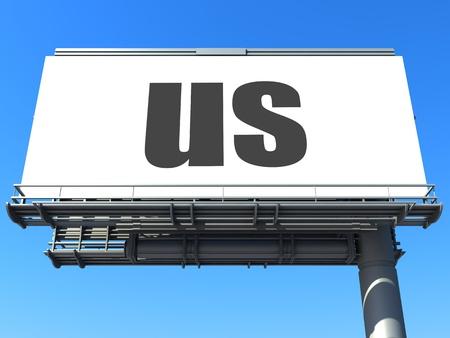 word on billboard Stock Photo - 19207663