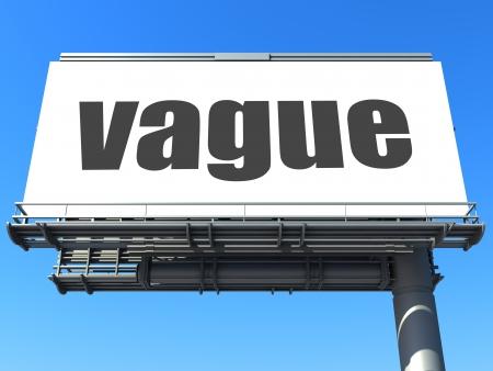vague: word on billboard