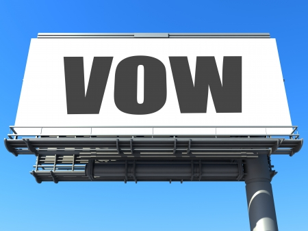vow: word on billboard