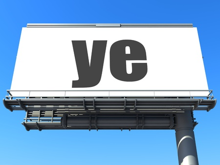 word on billboard Stock Photo - 19207659