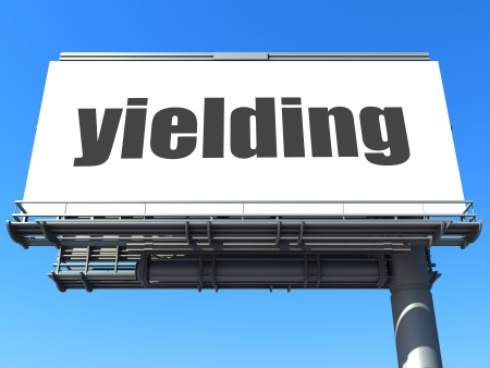 yielding: word on billboard