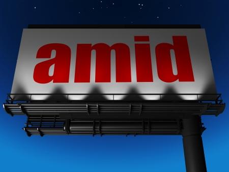 word on billboard Stock Photo - 19204383