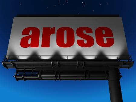 arose: word on billboard