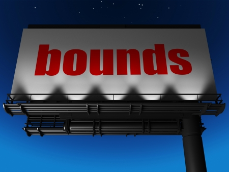 bounds: word on billboard