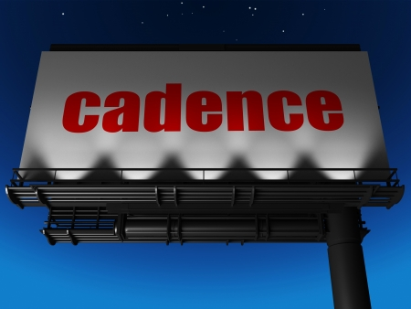 cadence: word on billboard