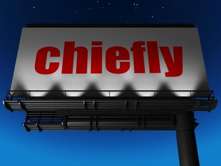 chiefly: word on billboard