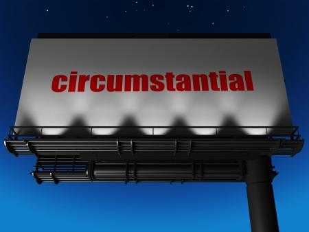 circumstantial: word on billboard