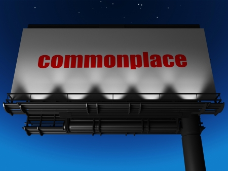 commonplace: word on billboard