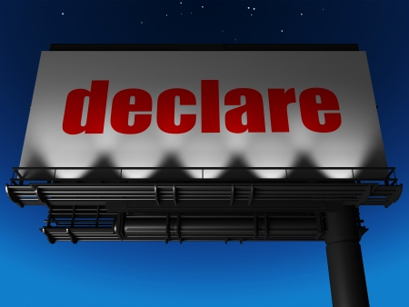 word on billboard Stock Photo - 19236375