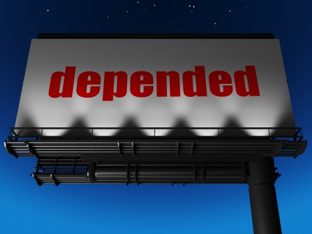 depended: word on billboard